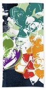 Bold Succulents 1- Art By Linda Woods Hand Towel by Linda Woods