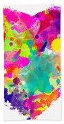 Bold Watercolor Heart - Digital Art Bath Towel