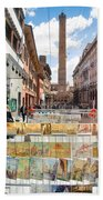 Bologna Artworks Of The City Hanging In  Bath Towel