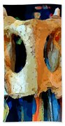 Bone And Paint Abstract Bath Towel