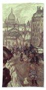 Bonnard: Place Clichy, C1895 Bath Towel