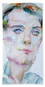 Bosie - Lord Alfred Douglas - Watercolor Portrait Bath Towel