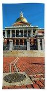 Boston Freedom Trail To State House Boston Ma Bath Towel