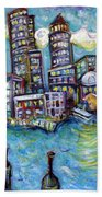 Boston Harbor Bath Towel