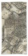 Boston Map Of 1842 Bath Towel