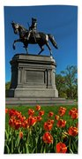 Boston Public Garden Tulips Boston Ma Bath Towel