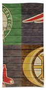 Boston Sports Teams Barn Door Bath Towel