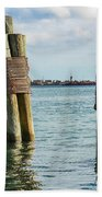 Boston's Harbor Bath Towel
