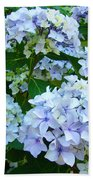 Botanical Art Prints Floral Hydrangea Flower Garden Baslee Bath Towel