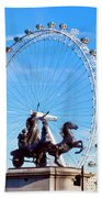 Boudica Riding The Millennium Wheel Bath Towel