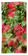 Bougainvillea Repeating Pattern Abstract I Bath Towel