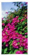 Bougainvillea Bath Towel