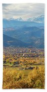 Boulder Colorado Autumn Scenic View Bath Towel