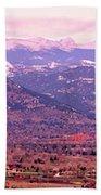 Boulder Colorado Sunrise Panorama Bath Towel