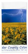 Boulder  County Colorado Bath Towel