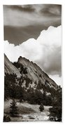 Large Cloud Over Flatirons Bath Towel