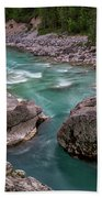 Boulder In The River - Slovenia Bath Towel
