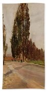 Boulevard Of Poplars Near Plankenberg Bath Towel
