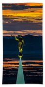 Bountiful Sunset - Moroni Statue - Utah Bath Towel