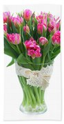 Vase Of Tulips Bath Towel