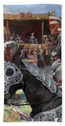 Bouvier Des Flandres - Flandres Cattle Dog Art Canvas Print - Knights Tournir Bath Towel