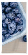 Bowl Of Fresh Blueberries Bath Towel