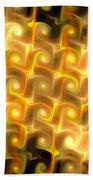 Boxes Yellow Art Bath Towel