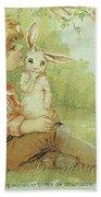 Boy And Rabbit Bath Towel