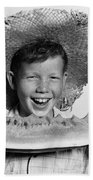 Boy Eating Watermelon, C.1940-50s Bath Towel