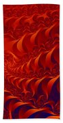 Braided Red Bath Towel