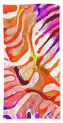 Brain Coral Abstract 6 In Orange Bath Towel