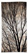 Branches Silhouettes Mono Tone Bath Towel