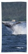 Breaching Whale Paint Bath Towel