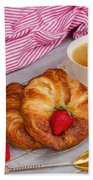 Breakfast With Croissants Bath Towel
