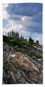 Brick Bell House At Pemaquid Point Light Bath Towel