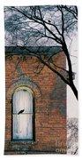 Brick Building Window With Bird Bath Towel