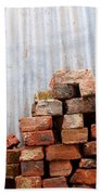 Brick Piled Bath Towel by Stephen Mitchell