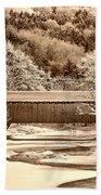 Bridge In Sepia Bath Towel