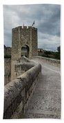 Bridge Of Besalu, Girona Provence, Catalonia, Spain-2 Bath Towel