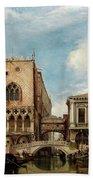 Bridge Of Sighs, Venice Bath Towel