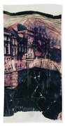 Bridge That Curved, Delft, Holland Bath Towel