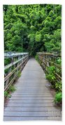 Bridge To Bamboo Forest Hand Towel