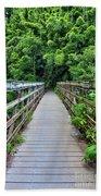 Bridge To Bamboo Forest Bath Towel
