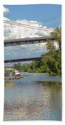 Bridges Spanning The Rondout Bath Towel