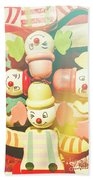 Bright Beaming Clown Show Act Bath Towel