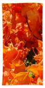 Bright Orange Rhodies Art Prints Canvas Rhododendons Baslee Troutman Bath Towel