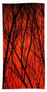 Bright Red Sunset Hand Towel
