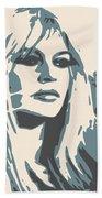 Brigitte Bardot Poster 2 Bath Towel