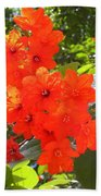 Brilliant Blossoms Bath Towel