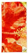 Brilliant Hibiscus Bath Towel